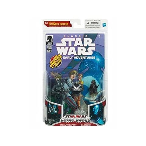 Star Wars 2009 Comic Book Action Figure 2Pack Dark Horse Classic Star Wars The Early Adventures #1 Stormtrooper & Blackhole Hologram