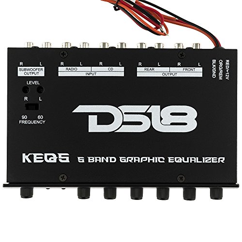 DS18 DS-KEQ5 DS18 Five Band Graphic Equalizer Six Channel/Five Volt RCA Subwoofer Level Control by DS18 (Image #1)