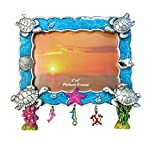 Rockin Gear Picture Frame Turtles 8 x 10 Glitter Charm Fun Design Photo Frames Holds a 4'' x 6'' inch Print (Turtles)
