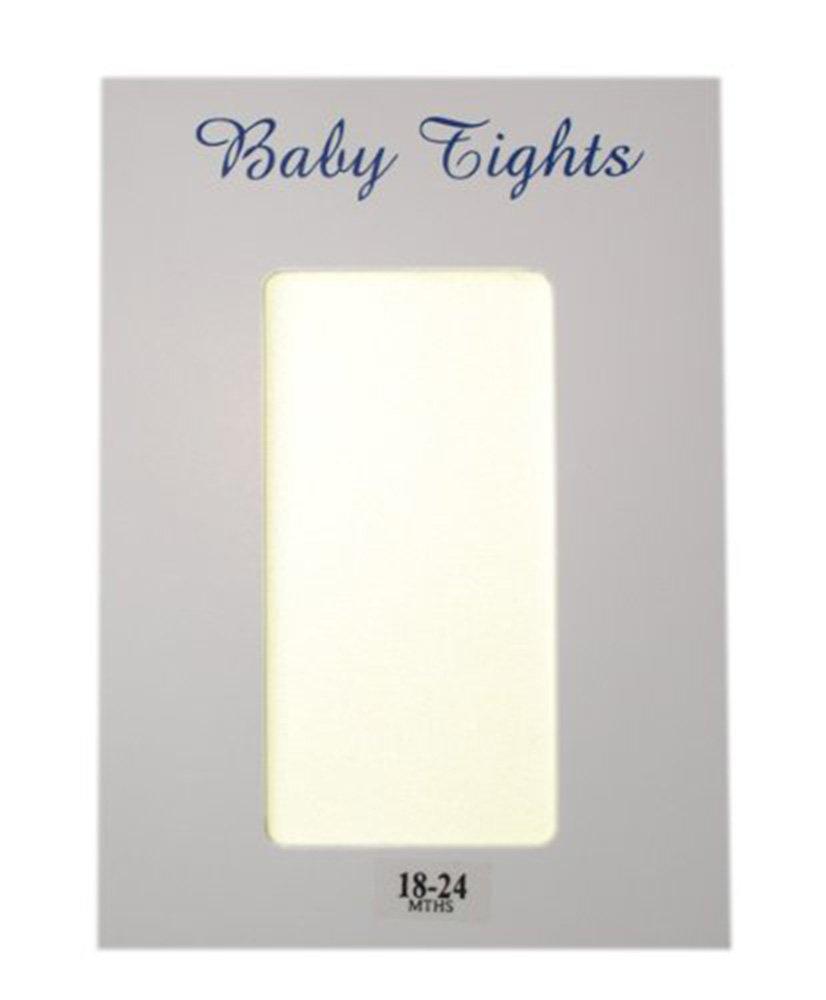 Baby girls tights in IVORY - plain - 30 denier - 0-6 mths Cachet Kids