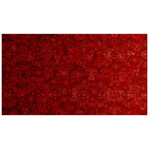 - QT Fabrics Bohemian Rhapsody Red Hot Chili Pepper, Fabric by the Yard