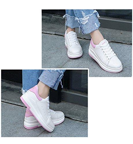 Ocio Zapatos Planos Respirables Huecos Salvajes Pink