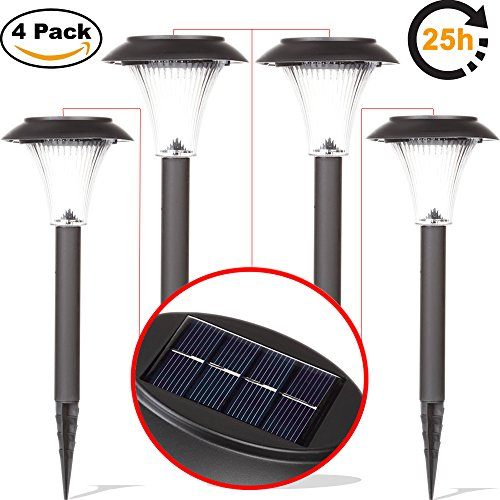 ArMax LED Solar Garden Lights Outdoor, Pathway Walkway