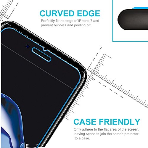 3 Pack-Glass Screen Protector for iPhone 7/iPhone 8, CNXUS Tempered Glass Screen Protector for iPhone 7/iPhone 8, Anti-Fingerprint, 0.3mm Ultra Thin, 3D Touch Compatible, Case-Friendly, Ultra Clear