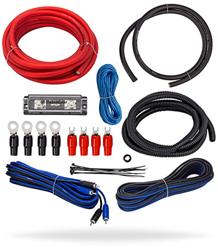 (InstallGear 4 Gauge Complete Amp Kit Amplifier Installation Wiring Wire)