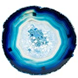 LARGE BLUE AGATE COASTERS Set of 4 Sliced Thick