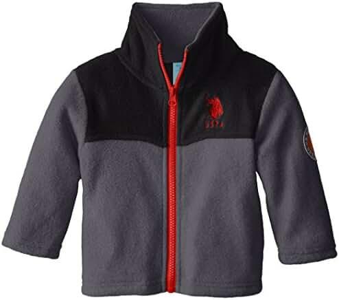 U.S. Polo Assn. Baby Boys' Polor Fleece Mock Neck Jacket