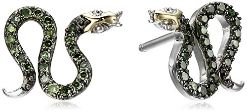 xpy-sterling-silver-and-14k-yellow-gold-snake-diamond-stud-earrings-1-10cttw-i2-i3-clarity