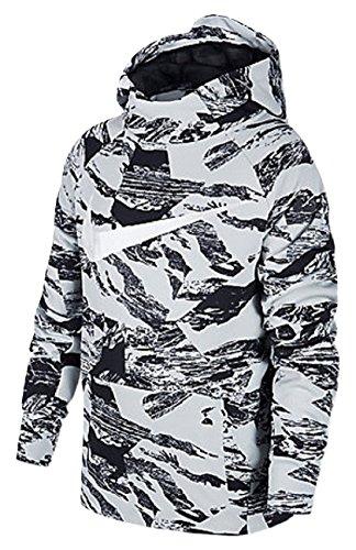 NIKE Boy's Therma Legacy Print Training Hoodie 856140-043 (Size: Medium) Black/White