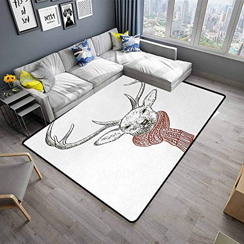 Antlers,Large Floor Mats for Living Room 24