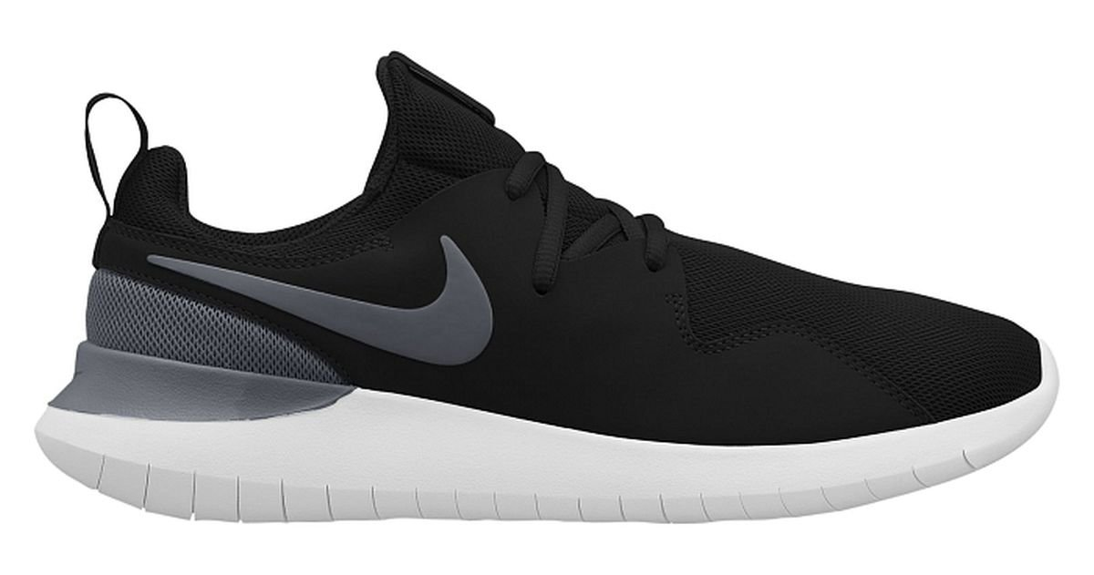 Nike Herrren Sneaker Tessen, Sneakers Basses Homme, Noir (Black/Cool Grey-White 001), 42 EU