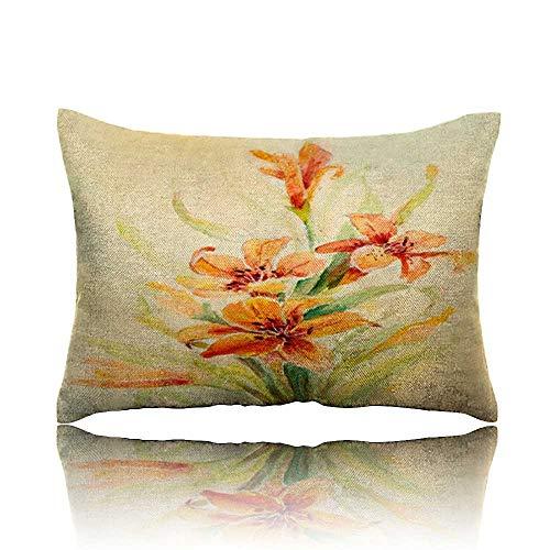 "Pillow Original Art Orange Lilies Toddler Pillow 14""x20"""