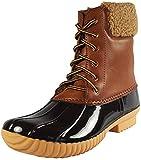 Nature Breeze Women's Duck-02 Waterproof Boot, Tan 6