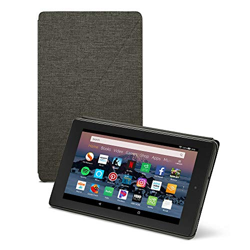 Amazon Fire HD 8 Tablet Case (Compatible with 7th and 8th Generation Tablets, 2017 and 2018 Releases), Charcoal Black (Lg Tablet Case Otter Box)