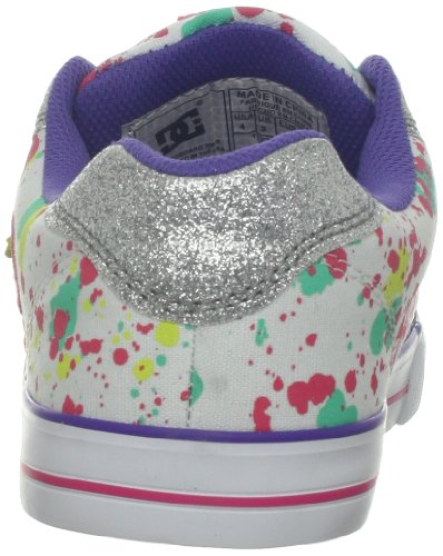 DC Kinder Chelsea Charm TX Skate Schuh (kleines Kind / großes Kind) Weiß / Multi