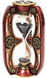 6.13 Inch Red Steampunk Inspired Sand Timer Hourglass Statue Figurine