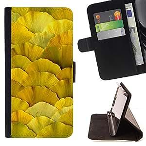 - Autumn Leaves Sun Pattern - Estilo PU billetera de cuero del soporte del tir???¡¯???3n [solapa de cierre] Cubierta- For Samsung Galaxy S3 III I9300 ( Devil Case )