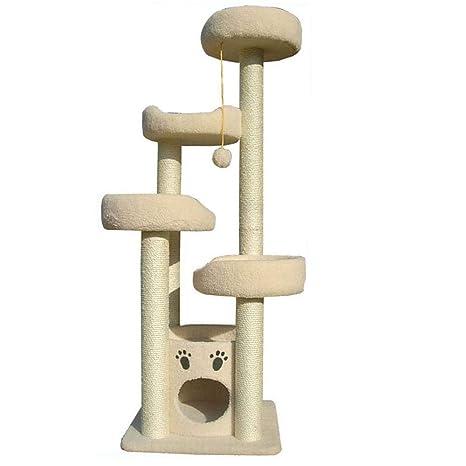 Dixinla Árbol Gatos Multi-Esponja Cama 66 * 66 * 152 cm para Gato Cat. Pasa ...
