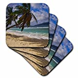3dRose cst_75067_2 Tropical Beach, La Digue Island, Seychelles, Africa-AF39 AWR0222-Alison Wright-Soft Coasters, Set of 8