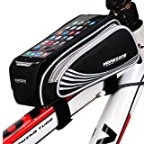 MOREZONE Bike Tube Bag Bicycle Pannier Pouch,Cycling Bike Frame Bags Phone Mount Holder For iPhone 7 7Plus 6 6plus Below 5.5 Inch