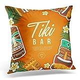 perfect tiki patio design ideas Sdamas Pillow case Colorful Bar Tiki Tribal Mask Hawaiian Party Throw Pillow Case Home Decor Square Pillowcase Decorative 20x20 Inches