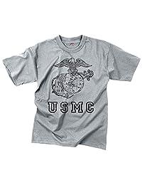 Rothco T-Shirt/Usmc Globe & Anchor - Grey