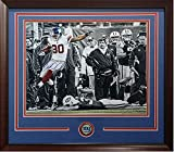 Victor Cruz Autographed 99 Yd Td Jets 20X24 Photo Framed Giants Coin Auto Steiner Coa