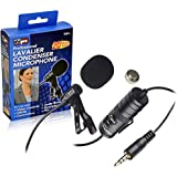 Canon EOS Rebel T5i Digital Camera External Microphone Vidpro XM-L Wired Lavalier microphone - 20 Audio Cable - Transducer type: Electret Condenser