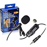 External Microphone Vidpro XM-L Wired Lavalier Microphone - 20' Audio Cable - Transducer Type: Electret Condenser For Canon DSLR and Camcorders