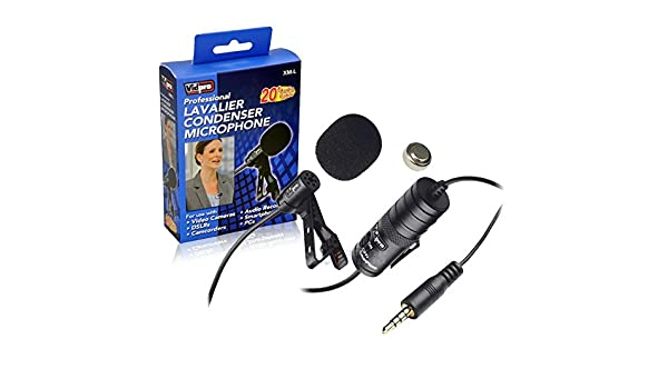 Transducer type Nikon Coolpix A300 Digital Camera External Microphone Vidpro XM-L Wired Lavalier microphone Electret Condenser 20 Audio Cable