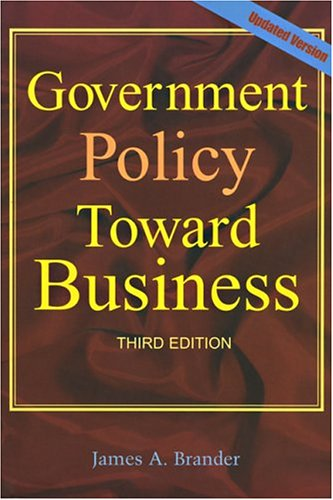 Government Policy Towards Business Updated Version