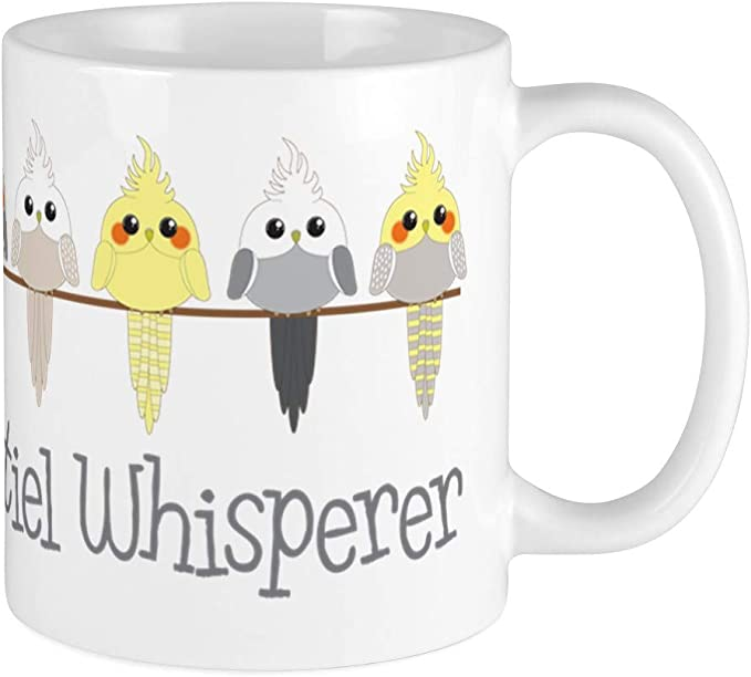 I Would Rather Be With Tea Cup Kazmugz Exclusive COCKATIEL Gift Coffee Mug
