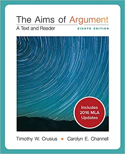 Isbn 9780077592202 the aims of argument: a text and reader 8th.
