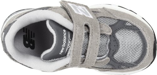 New Balance V990 - Zapatillas de running de cuero para niño GPI Grey with White