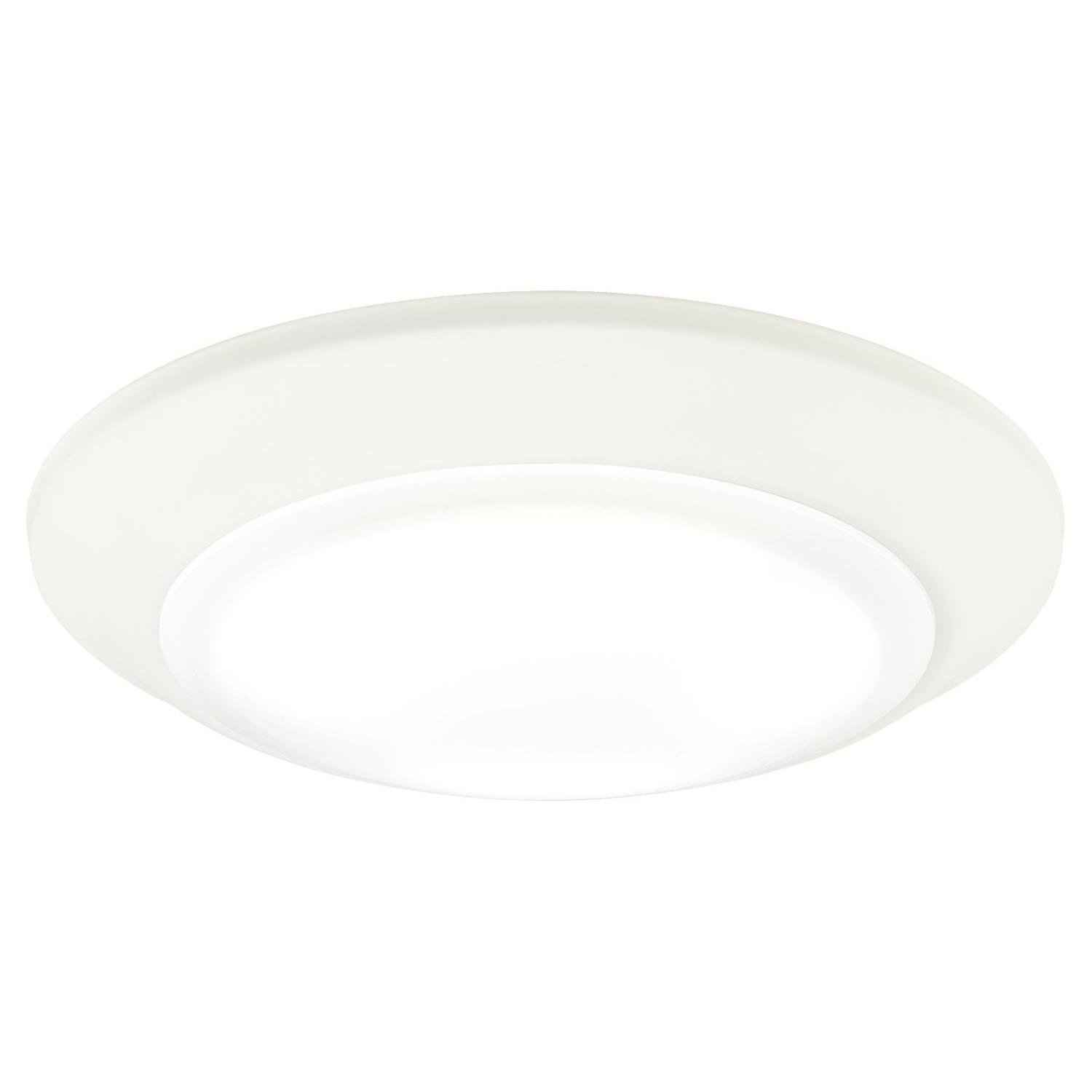 Westinghouse Lighting 6323300 LED Indoor/Outdoor Dimmable Surface Mount Wet Location, White Finish with Frosted Lens,