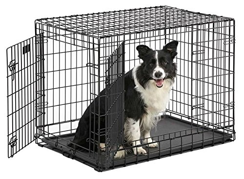 MidWest Ultima Pro (Professional Series & Most Durable Dog Crate) | Extra-Strong Double Door Folding Metal Dog Crate w/Divider Panel, Floor Protecting