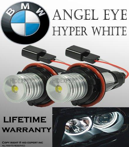 ICBEAMER LED Angel Eye Halo Ring Fit BMW E39 E53 E60 E61 E63 E64 E65 E66 E87 Can Replace OEM Factory Light Bulbs [White] (Bulb 525i Bmw)