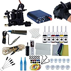 Tatooine Tattoo Kit for Beginners Tattoo Power Supply Kit 6pcsTattoo Ink 10 Tattoo Needles 1 Pro Tattoo Machine Guns Kit Tattoo Supplies