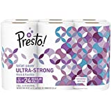 Amazon Brand - Presto! 154-Sheet Roll Toilet Paper, Ultra-Strong, 12 Count (For Small Roll Holders)