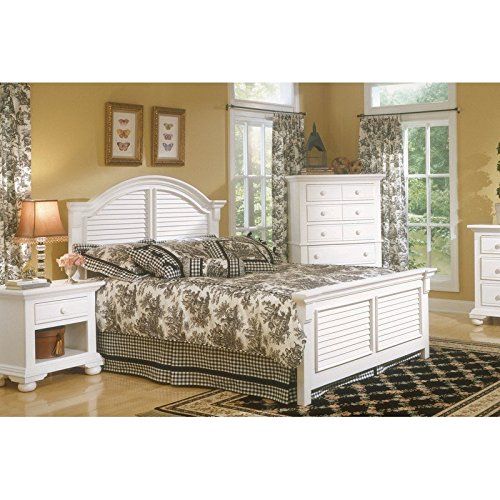 (American Woodcrafters Cottage Traditions Queen Panel Bed)