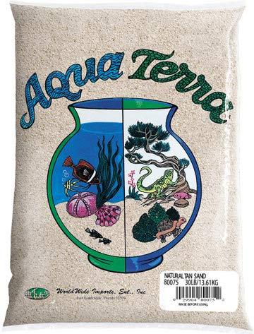 Nature's Ocean Aqua Terra Natural Tan Sand 5 lb Bag, Natural Aquarium Sand ()