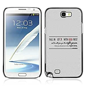 Hard Case or Cover for Samsung Galaxy Note 2 FALL IN LOVE WITH GOD iphone cases for girlslifeproofase for iphone