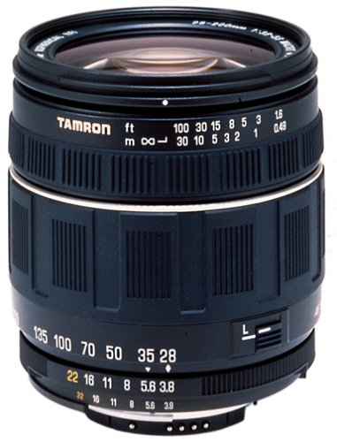 Tamron Autofocus 28-200mm f/3.8-5.6 XR Aspherical (IF) Lens for Canon SLR Cameras (Black)