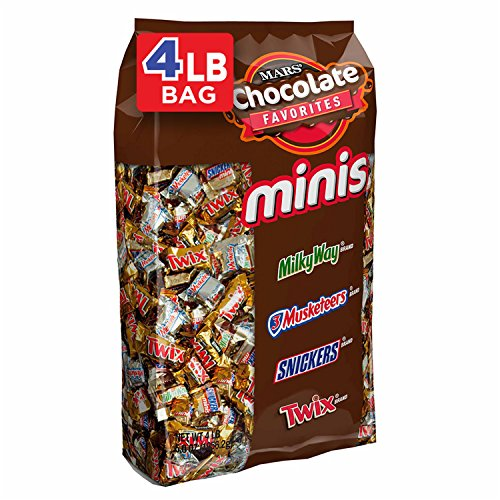 SNICKERS, TWIX, 3 MUSKETEERS & MILKY WAY Minis Size Easter Candy Variety Mix, 240 -