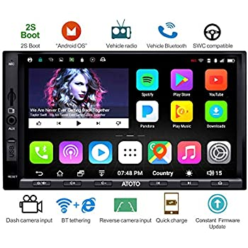 ATOTO A6 Android Car Navigation Stereo w/Dual Bluetooth & Quick Charge - Premium A6Y2721PB 2G/32G Universal Auto Entertainment Multimedia Radio,WiFi/BT ...