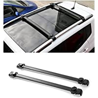 FMtoppeak 2pcs Aluminium + ABS Car Roof Rack Cross Bars Luggage Carrier for Jeep Renegade 2014 UP