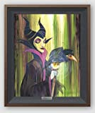 """Disney Fine Art Maleficent the Wicked by Stephen Fishwick Frame Dimensions: 24.25"""" x 20.25"""" Disney Sleeping Beauty Villain Silver Series Limited Edition on Canvas Framed Wall Art"""