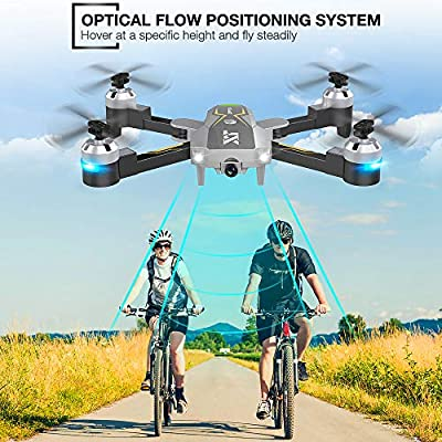 WiFi FPV Drone with Camera Live Video 720P HD, RC Drones for Beginners Camera Drone with Optical Flow Positioning, Gravity Control, Voice Control, Trajectory Flight, Compatible with 3D VR Headset