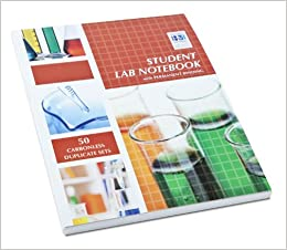 Student Lab Notebook: 50 Top Bound Carbonless Duplicate Sets ...