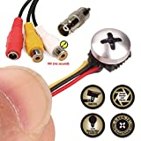 ZOTER Mini Micro Spy Cam Camera Screw Pinhole Hidden CCTV Security Surveillance 800TVL Video for Home Office